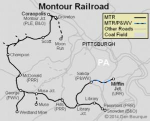 Montour Railroad Map