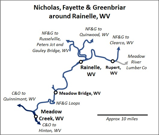 NF&G Map Rainelle, WV