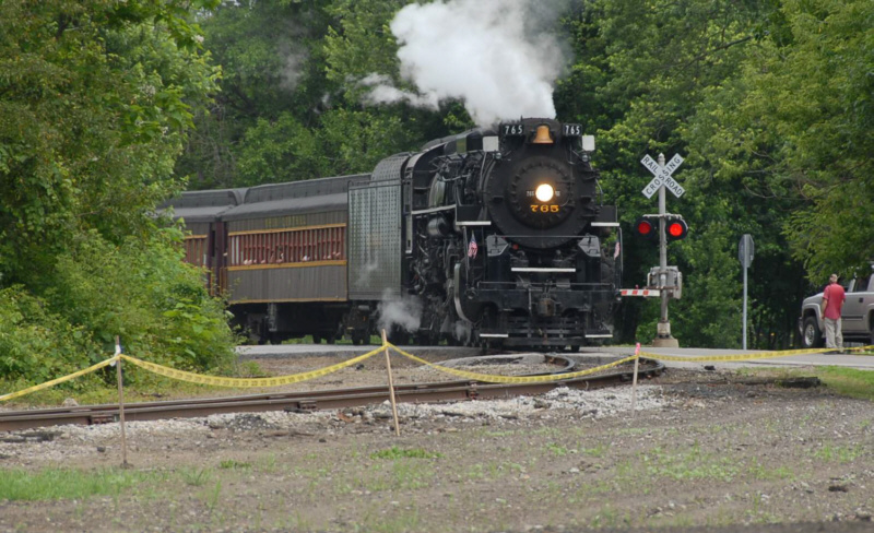 NKP 765 rounding the bend