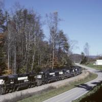 NS train at Sunbright, VA