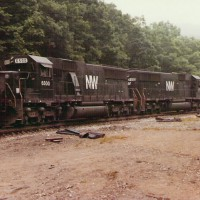 N&W SD50S 6500, Garwood, WV