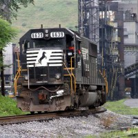 NS SD60 at East Gulf, WV