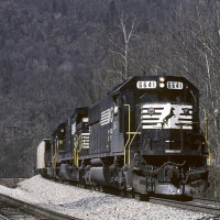 NS SD60 6641 at Appalachia, VA