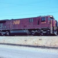 N&W C30-7 8078 tuscan red