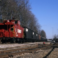 NS caboose at Norton, VA