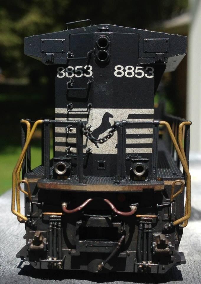 NS HO scale Dash-9 40C model by Jason Koglin