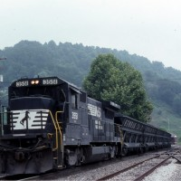 NS dump train at Appalachia, VA
