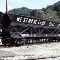 NS dump train cars at Appalachia, VA