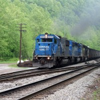 NS coal train at Alpoca, WV
