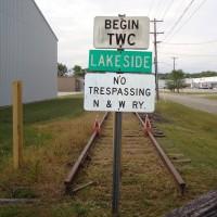 NS end-of-track sign Salem, VA