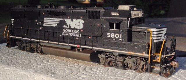 NS GP38-3 HO scale model by Jason Koglin