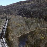 NS train through Miller Yard, VA