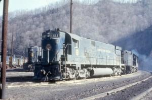 N&W C628 at Weller Yard, VA, Mar 1971 -Everett Young