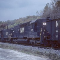 N&W SD40 1581 pusher, Rexford, OH
