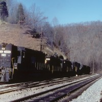 N&W SD40 1596, Home Creek, VA