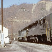 N&W SD45 1757, Weller Yard, VA