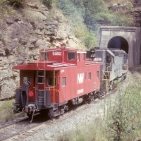 N&W pushers at Rait Tunnel, WV