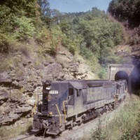 N&W SD45 1792 pusher set, Rait Tunnel, WV