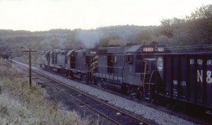 N&W mine run on the former NKP at Hanna, OH, Oct 1977 -Everett Young