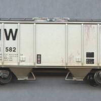 N&W 70T covered hopper in HO by Dan Bourque