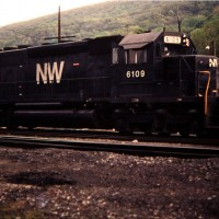 N&W SD40-2 6109, Norton, VA