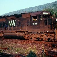 N&W SD40-2 6129, Norton, VA