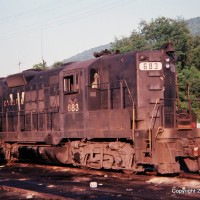 N&W GP9 683, Norton, VA