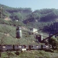 N&W coal moving at Big Rock, VA