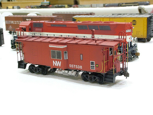 N&W C6P caboose in HO by Greg Davis
