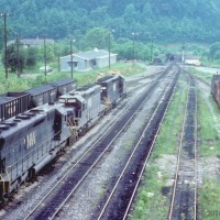 N&W engines at Carbo, VA