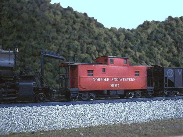 N&W CG caboose in HO by Mike Rector