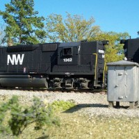 N&W GP40 in HO by Greg Davis