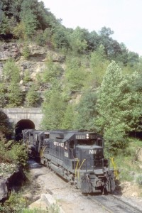 N&W Shifter at Sandy Ridge Tunnel, VA