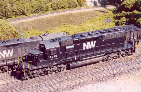 N&W SD40-2 in HO by Dan Bourque