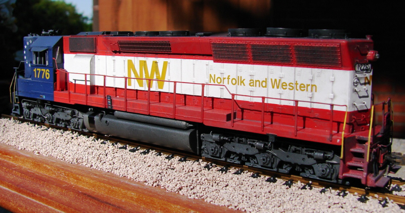 N&W SD45 1776 in HO by Kevin Yackmack