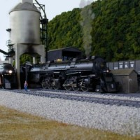 N&W steam locomotive in HO by Mike Rector