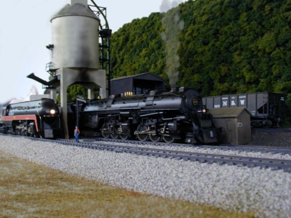 N&W steam locomotive in HO by Mike Rector