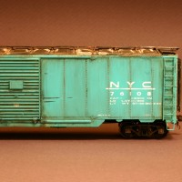 NYC 50-ft boxcar in HO by Dan Bourque