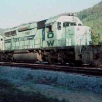 O&W SD40-2 9957 at Clover, KY