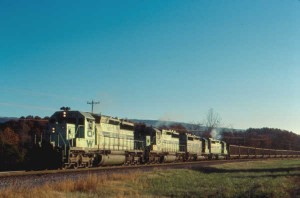 O&W Green Train at Etowah, TN