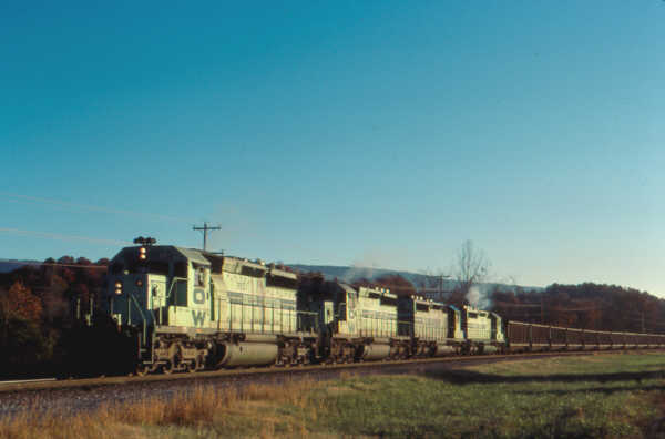 O&W Green Train at Etowah, TN