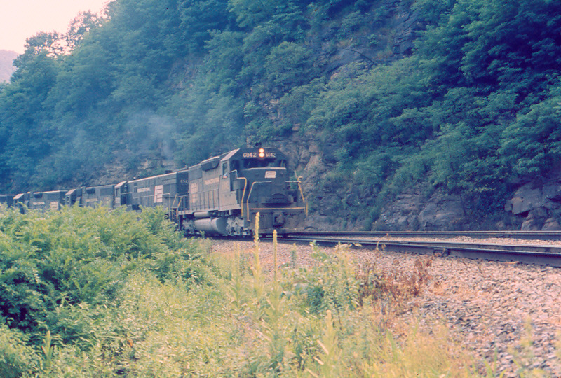PC SD40 6042 at Horseshoe Curve, PA