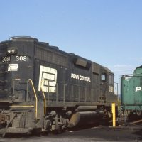 PC GP40 3081 and old tender at Clearfield, PA
