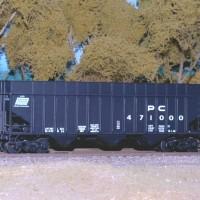 PC H53 100T hopper in HO by Gene Fusco