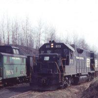 PC GP38-2 8111 at Leland No 10, PA