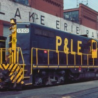 P&LE GP7 at McKees Rock, PA, Apr 1983 -Jim Olmstead