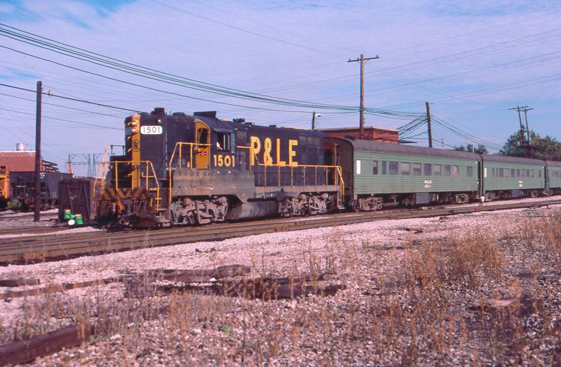 P&LE GP7 with passenger cars, McKees Rocks, PA