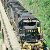 P&LE GP38 2034 on MGA, Mather, PA