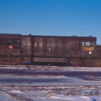 PRR U25B 2607 in Detroit, MI
