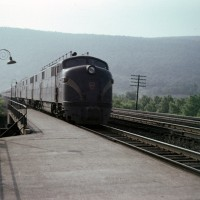 PRR passenger train at Mt Union, PA